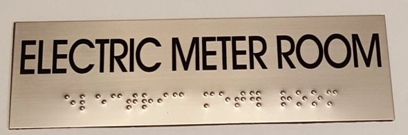 ELECTRIC METER ROOM Sign -Tactile Signs   Ada sign
