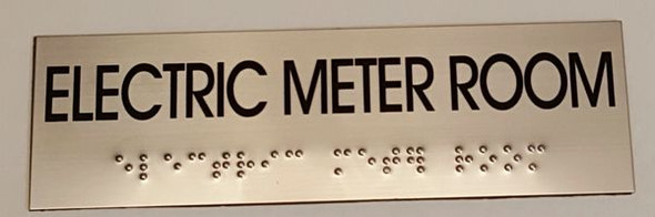 ELECTRIC METER ROOM Sign -Tactile Signs    Braille sign