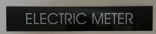 ELECTRIC METER SIGNAGE - BLACK