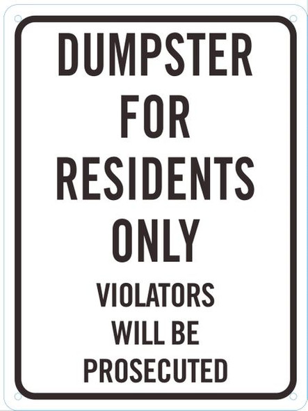 DUMPSTER Dob SIGN