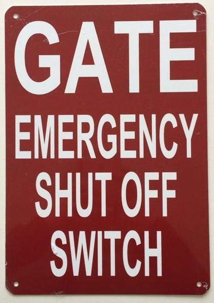 GATE EMERGENCY SHUT OFF HPD SIGN