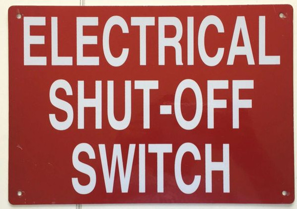 ELECTRICAL SHUT-OFF SWITCH Dob SIGN