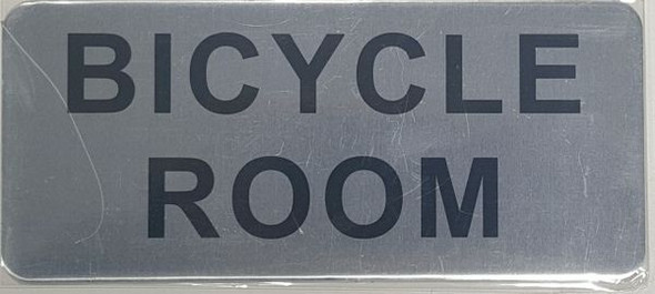 BICYCLE ROOM SIGN - BRUSHED ALUMINUM - The Mont Argent Line