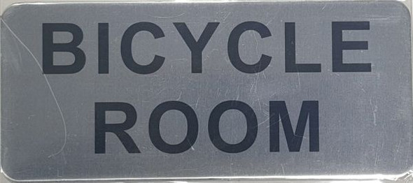 BICYCLE ROOM SIGNAGE - BRUSHED ALUMINUM - The Mont Argent Line