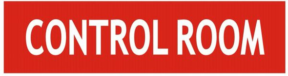 CONTROL ROOM SIGNAGE - RED