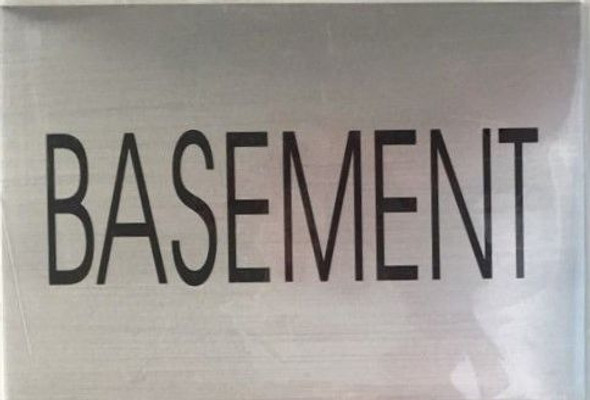 FLOOR NUMBER Signage - BASEMENT Signage