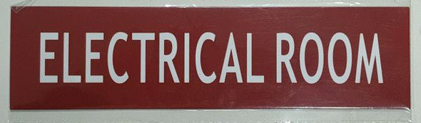 ELECTRICAL ROOM SIGNAGE - RED BACKGROUND