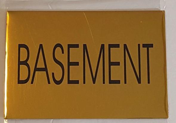 FLOOR NUMBER SignBASEMENT Sign