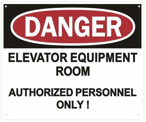 DANGER ELEVATOR SIGN
