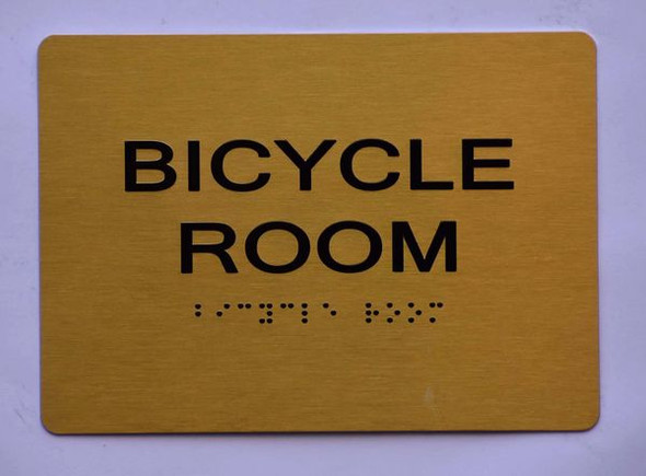 BICYCLE ROOM Sign -Tactile Signs Tactile Signs  - THE SENSATION LINE Ada sign