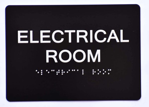 Braille sign ELECTRICAL ROOM Sign - The Sensation line -Tactile Signs