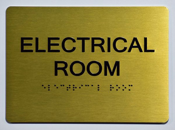 ELECTRICAL ROOM SIGN - The Sensation line -Tactile Signs Ada sign