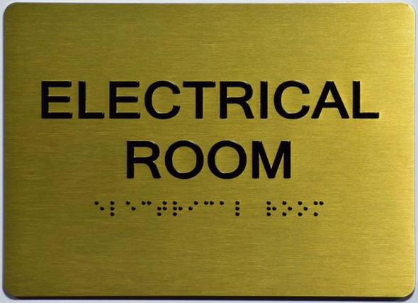 ELECTRICAL ROOM Sign GOLD