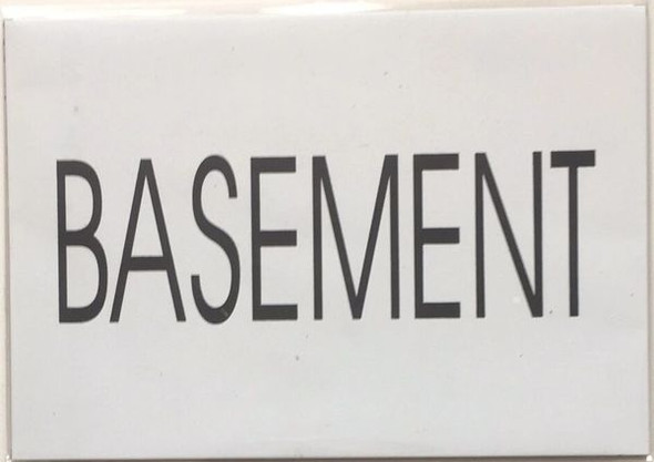 FLOOR NUMBER Sign - BASEMENT Sign