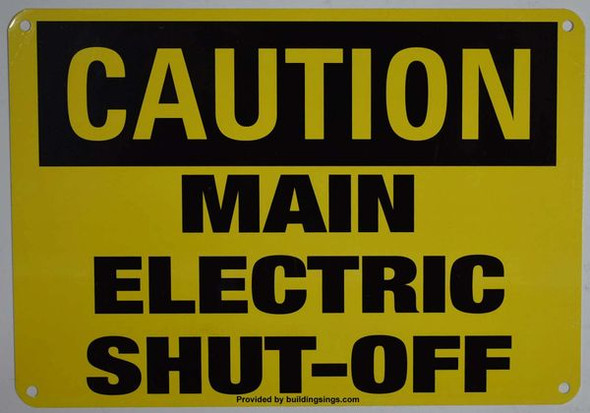 CAUTION MAIN ELECTRIC HPD SIGN