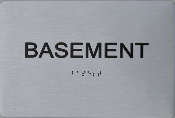 BASEMENT ADA Sign -Tactile Signs  The sensation line   Ada sign