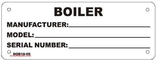 BOILER REGISTRATION TAG SIGN