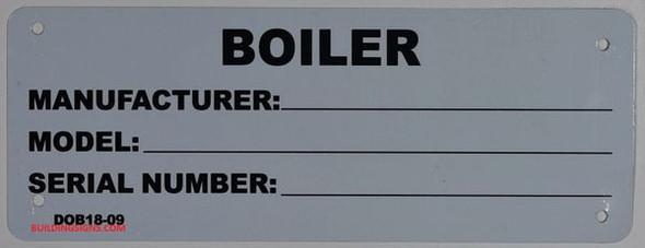 BOILER REGISTRATION TAG  SIGN for Building