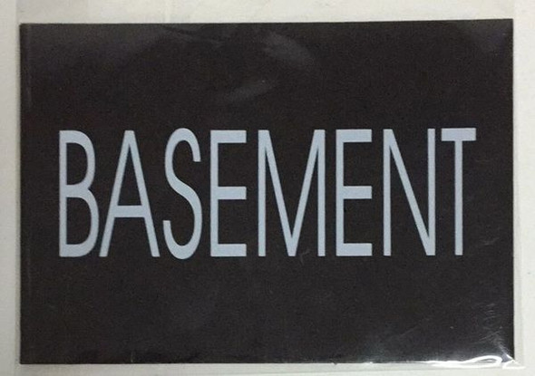 BASEMENT SIGN Black