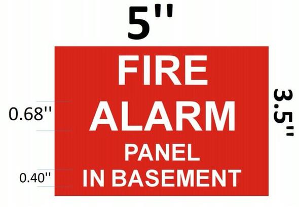 FIRE ALARM PANEL IN BASEMENT SIGNAGE (ALUMINUM SIGNAGES ) (RED)