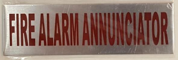 FIRE ALARM ANNUNCIATOR Signage