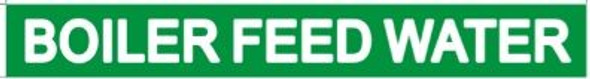 BOILER FEED WATER SIGN (STICKER ) GREEN