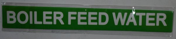 BOILER FEED WATER SIGNAGE (STICKER ) GREEN