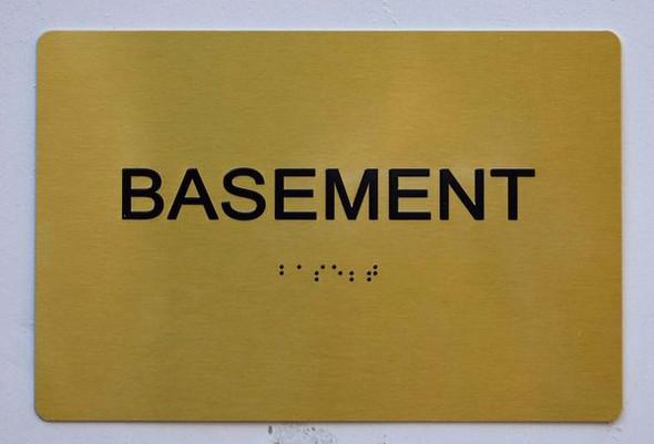 BASEMENT SIGN Gold