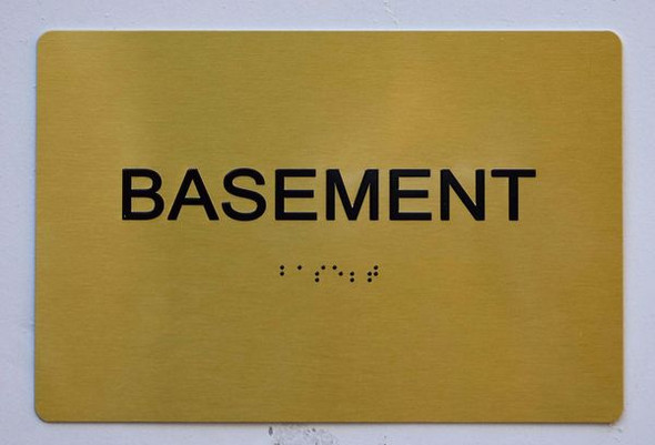 BASEMENT Sign -Tactile Signs   Ada sign