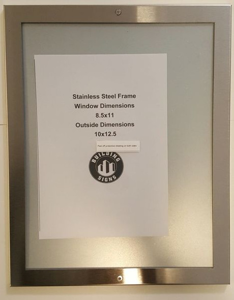 ELEVATOR CERTIFICATE FRAME STAINLESS STEEL (CERTIFICATE FRAMES)