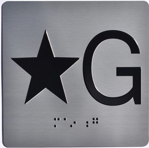 ELEVATOR JAMB- STAR G Elevator sign