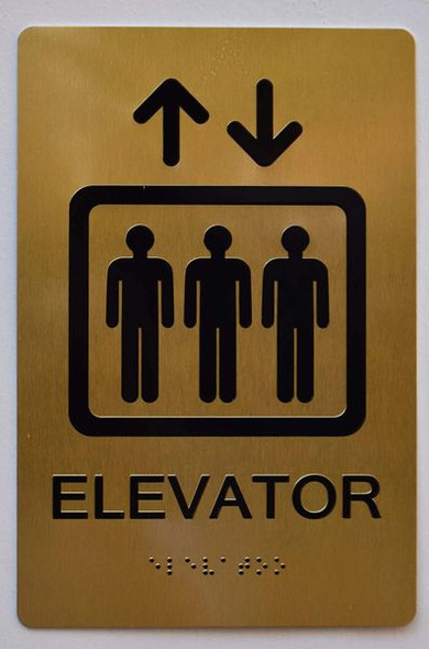 Elevator Sign -Tactile Signs Tactile Signs  ADA-- THE SENSATION LINE  Braille sign