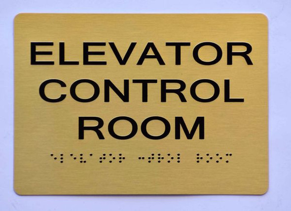ELEVATOR CONTROL ROOM SIGN - The Sensation line -Tactile Signs  Braille sign