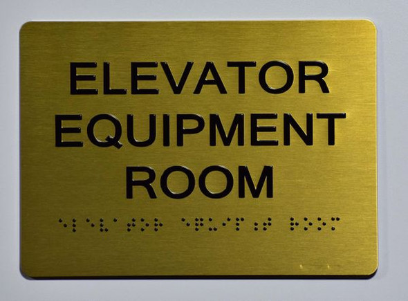Elevator Equipment Room SIGN - The Sensation line -Tactile Signs Ada sign