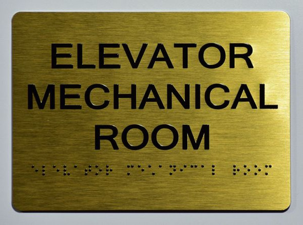 ELEVATOR MECHANICAL ROOM Sign ADA- Ada sign