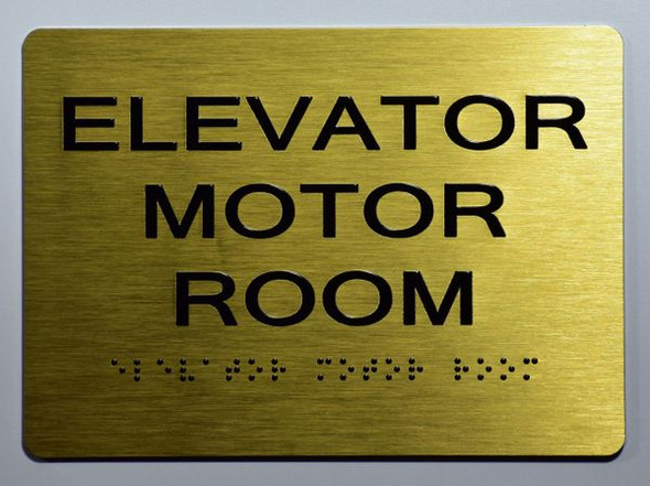 ADA MOTOR ROOM SIGN Gold