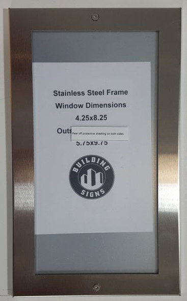 Apartment Directory Board - FRAME STAINLESS STEEL (Apartment Directory FRAMES)