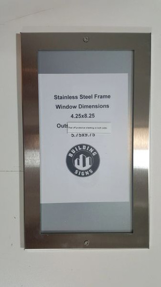 Apartment Directory Board - FRAME STAINLESS STEEL Building Frame