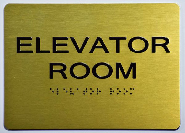ELEVATOR ROOM SIGN- The Sensation line -Tactile Signs Ada sign