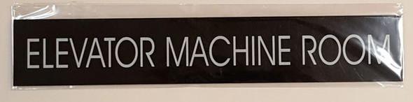 ELEVATOR MACHINE ROOM SIGNAGE - BLACK
