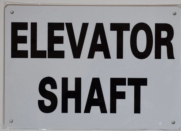ELEVATOR SHAFT SIGNAGE- WHITE