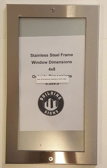 Apartment Directory SIGNAGEage- FRAME STAINLESS STEEL (Apartment Directory FRAMES)