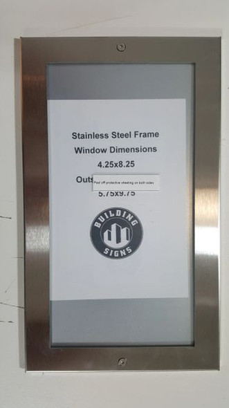 Directory Board- FRAME STAINLESS STEEL (BOARD DIRECTORY FRAMES )