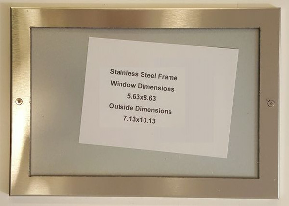 ELEVATOR CERTIFICATE FRAME- STAINLESS STEEL (CERTIFICATE FRAMES )