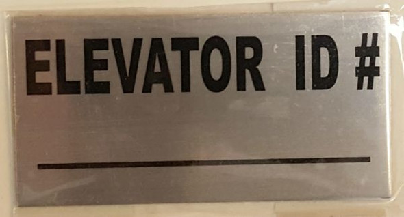 ELEVATOR ID SIGN, BRUSHED ALUMINUM (ALUMINUM SIGNS 2X4)-The pennello d'argento line