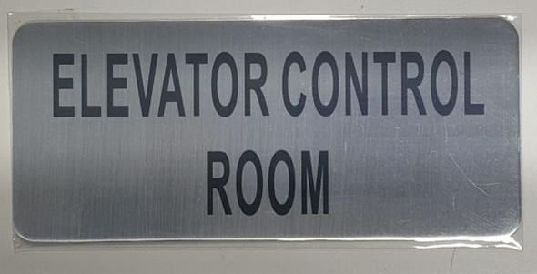 ELEVATOR CONTROL ROOM SIGN  BRUSHED ALUMINUM - The Mont Argent Line