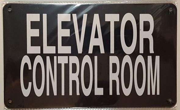 ELEVATOR CONTROL ROOM SIGNAGE (BLACK, ALUMINUM SIGNAGES)