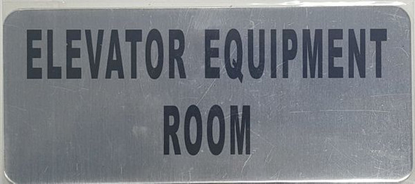 ELEVATOR EQUIPMENT ROOM SIGN  BRUSHED ALUMINUM - The Mont Argent Line