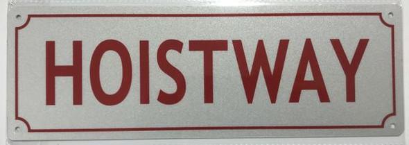 HOISTWAY SIGNAGE- REFLECTIVE !!! (ALUMINUM SIGNAGES,White)