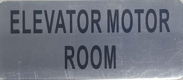 ELEVATOR MOTOR ROOM SIGN  BRUSHED ALUMINUM - The Mont Argent Line